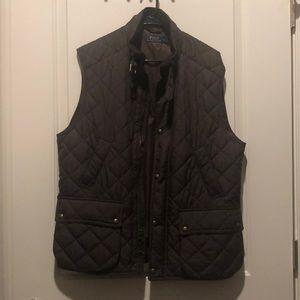 Men's polo Ralph Lauren brown quilted vest - L